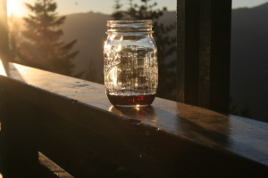 Sunsets, silense, and wine at the Lookout