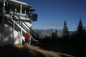 A final picture from our weekend at the Girard Ridge Lookout with Castle Crags in the background.