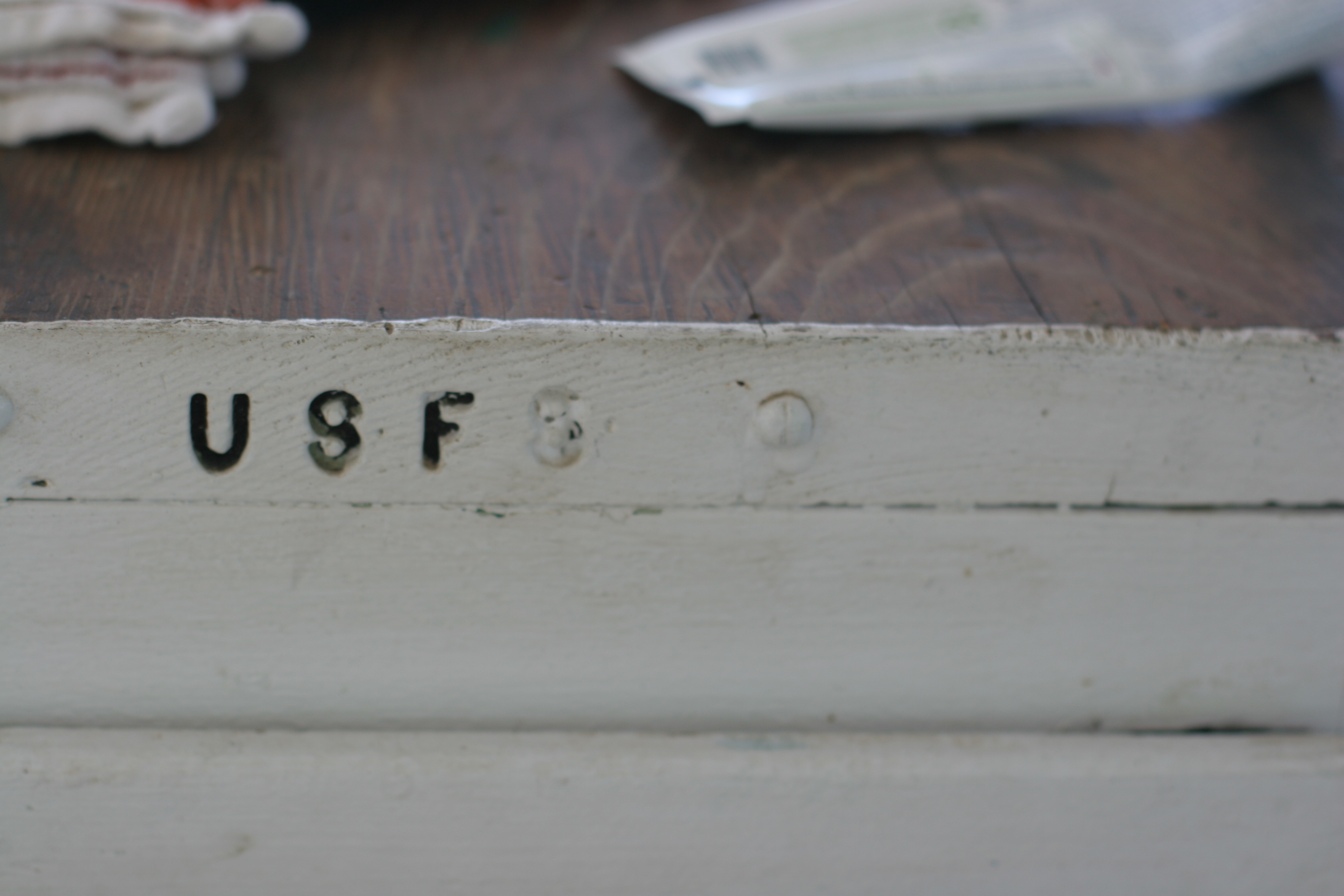 Girard Ridge Lookout, US Forest Service desk detail