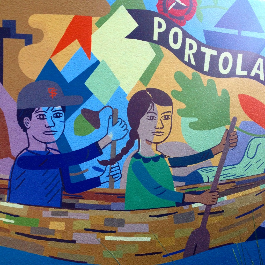 Mural detail from Burrows Pocket Park