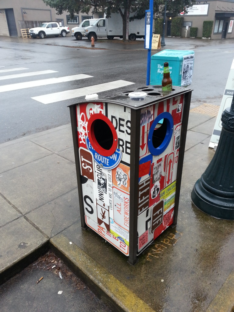 PDX trash receptacle,  Alberta St.