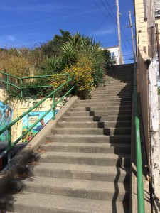 A before picture of the Quesada Avenue Stairway
