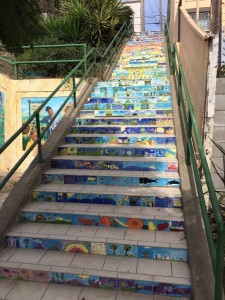 An after picture of the Quesada Avenue Stairway